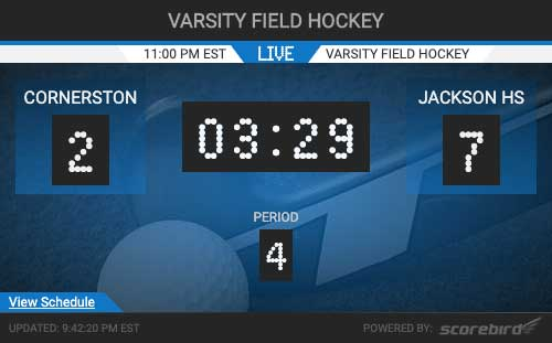 Field Hockey Scores Web Widget
