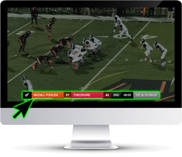 Live Sports Scores Broadcast Overlay