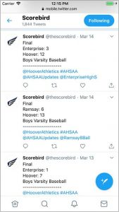Post live scores to Twitter